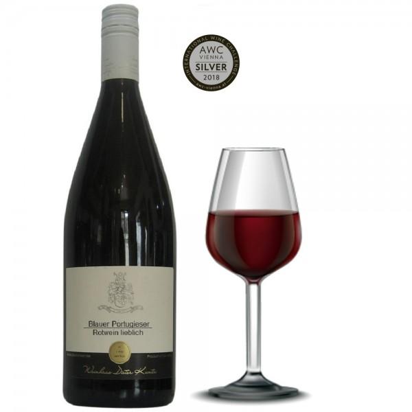 Portugieser lieblich Rotwein Literflasche 2017