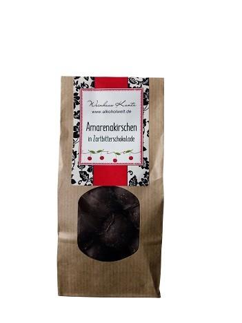 Amarenakirschen in Zartbitterschokolade
