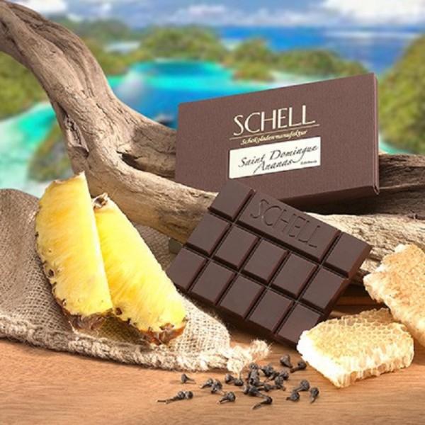 Schokolade edelherb Saint Dominque Ananas