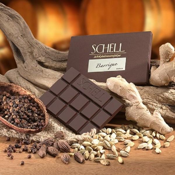 Schokolade edelherb Barrique