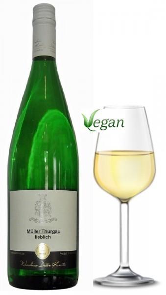 Müller Thurgau lieblich 2018 - der traditionelle Weißwein vom Weingut Dieter Kuntz