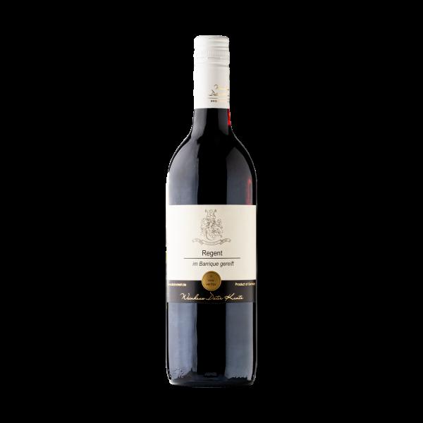 Regent Barrique Rotwein mit Schokolade als Geschenk