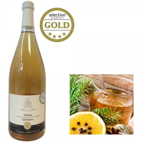 Weißer Glühwein 1,0 L Flasche GOLD*
