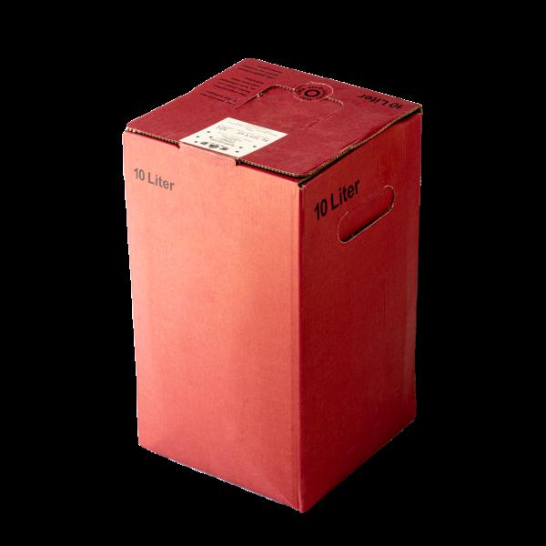 Dornfelder roter Gluehwein vom Winzer in der 10 Liter Box zum Zapfen