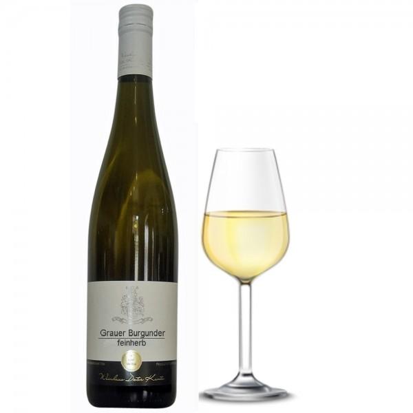 Grauer Burgunder feinherb halbtrocken Jahrgang 2017 vom Weingut Dieter Kuntz