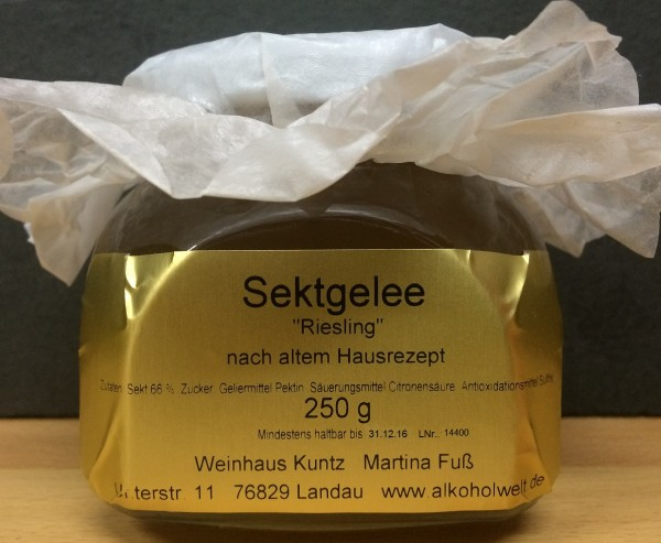Gelee Sektgelee Riesling