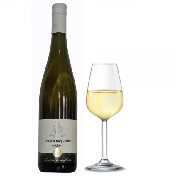 Weißer Burgunder trocken Jahrgang 2017 vom Weingut Dieter Kuntz