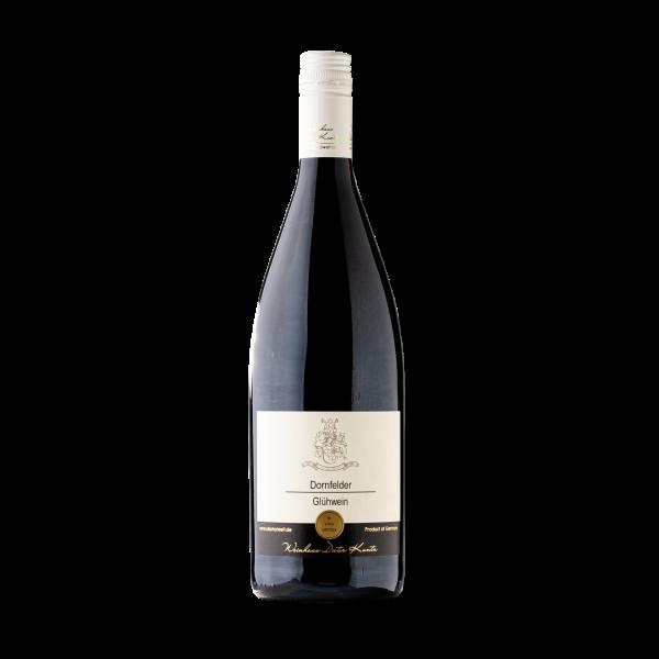 Roter starker Dornfelder Gluehwein vom Weingut aus der Pfalz