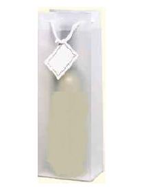 Geschenk Tüte transparent mattiert für 1 Flasche