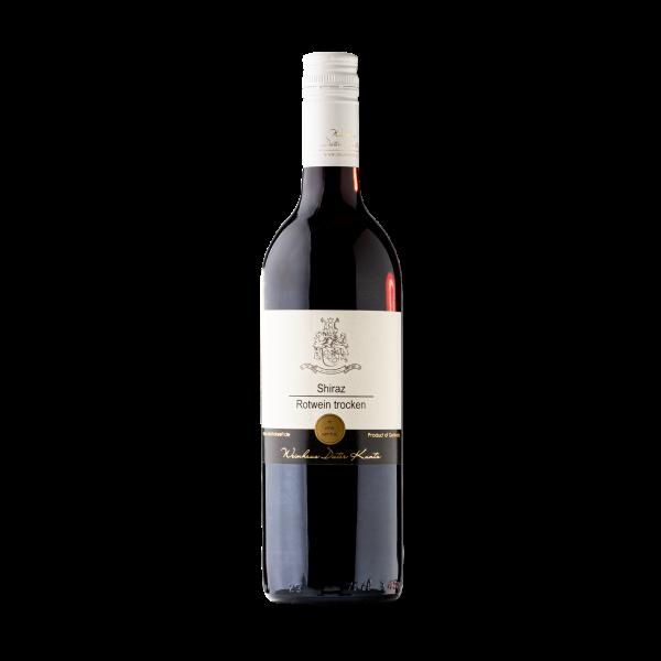 Trockener Shiraz Rotwein aus der Pfalz als Geschenk im Set