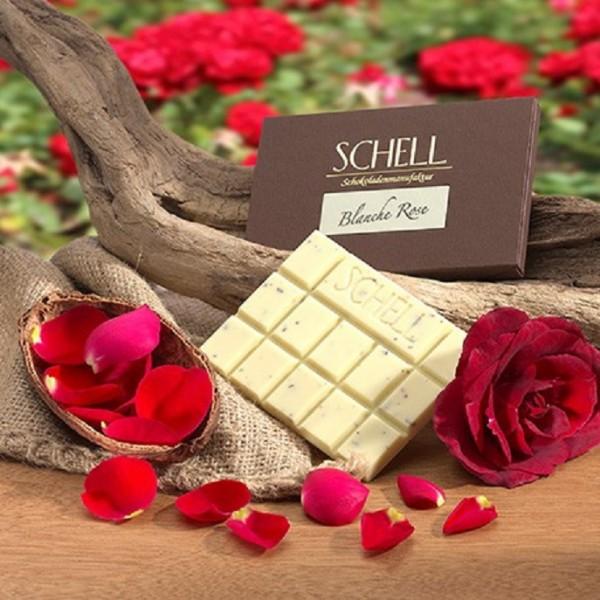 Weiße Schokolade Blanche Rose