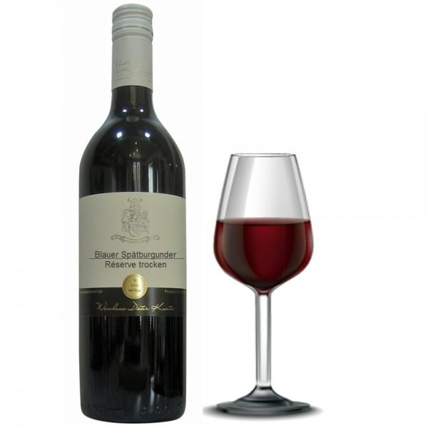 Blauer Spätburgunder Reserve Rotwein trocken Auslese