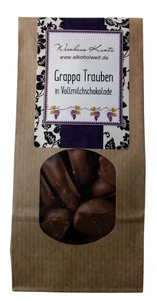 Grappa Trauben in Vollmilchschokolade